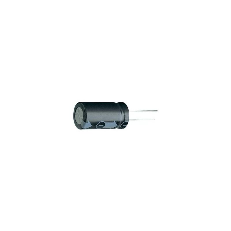 CONDENSATORE ELETTROLITICO VERTICALE 100pf 63V