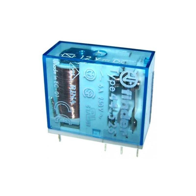 RELE\' FINDER 12VDC 250VAC 6A DPDT 44.52S