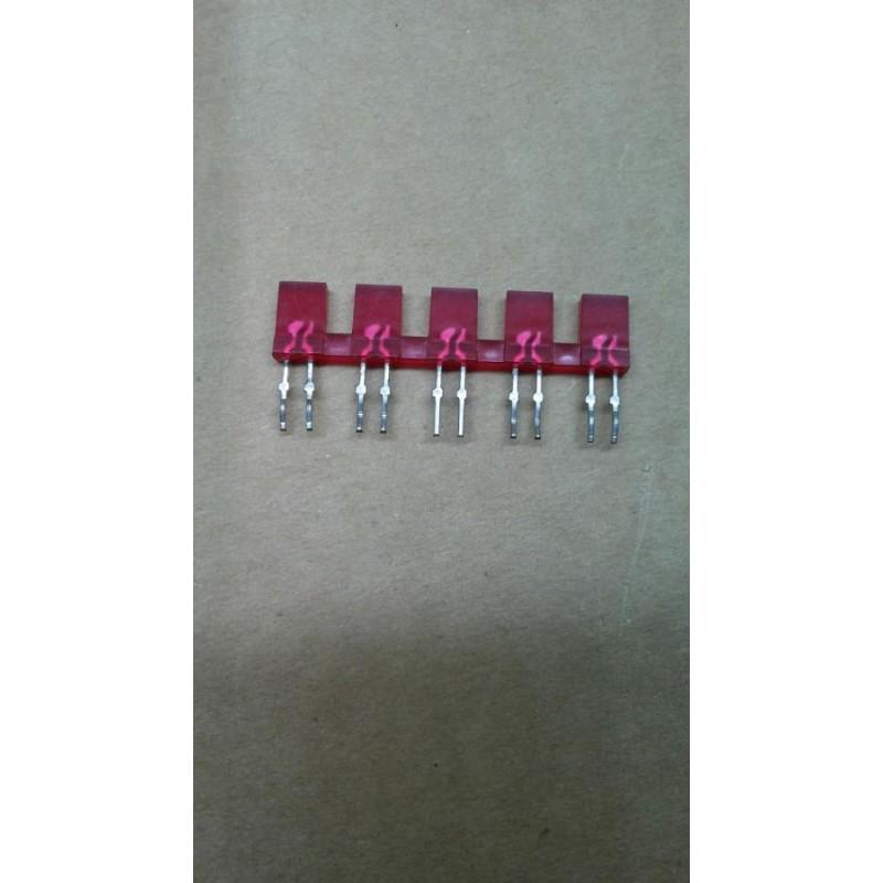 LED ROSSI RETTANGOLARI 15x5mm