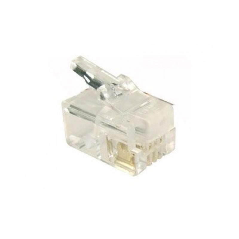 PLUG TELEFONICO RJ14/RJ11 6P4C