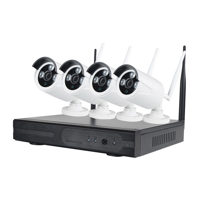 KIT NVR WIRELESS 4 CH, 4 TELECAMERE IP 1 MP