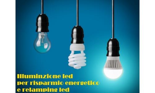 Lampade led di varie forme e consumi. Risparmio energetico assicurato